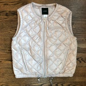 J. Crew Ivory Luminosa Quilted Down Puffer